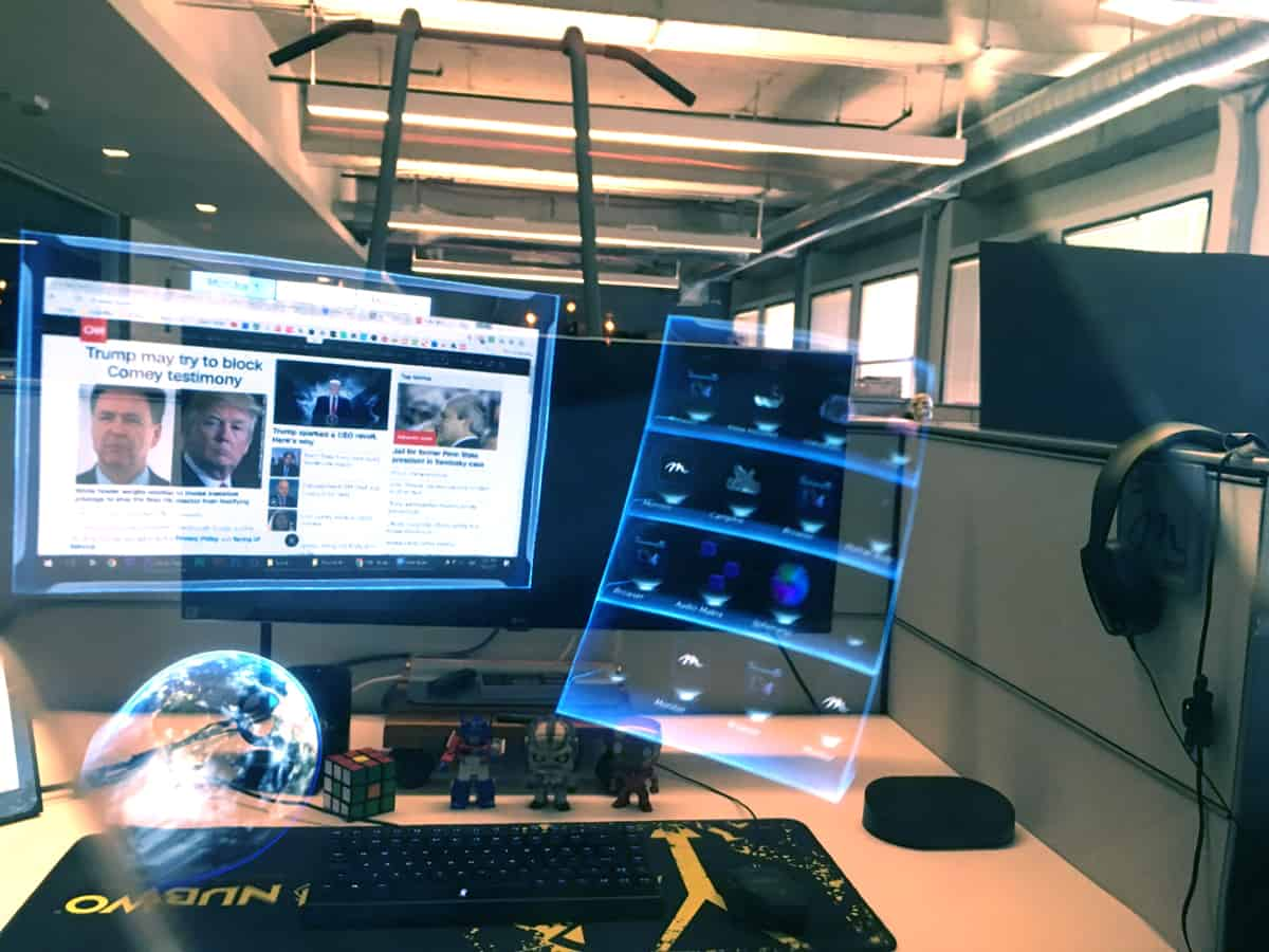 How augmented reality helps the work space