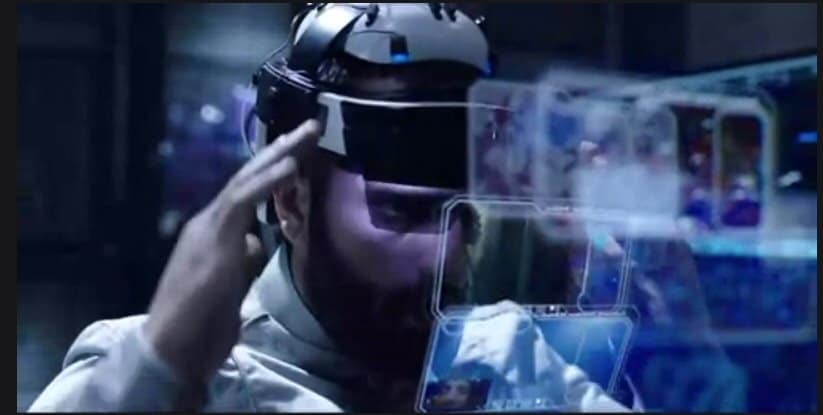 "Augmented reality use in Sci-Fi the series ""The Expanse"""
