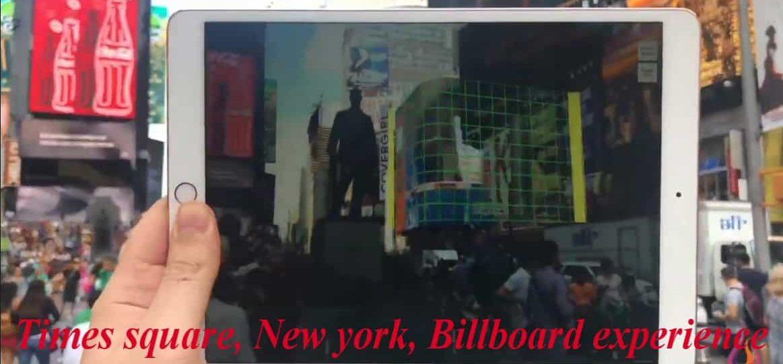 AR use in Billboards
