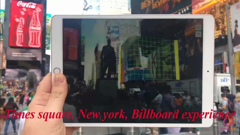 AR use in Billboard